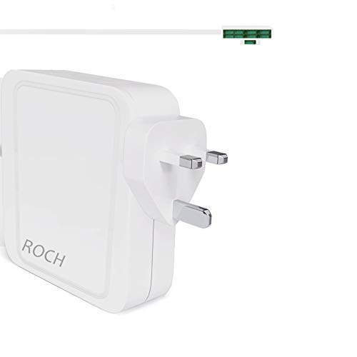ROCH 60w Power Adapter Compatible with Mac Pro 11 inch 13 inch L type 60w Charger Replacement for Mac Charger before Mid 2012 Model