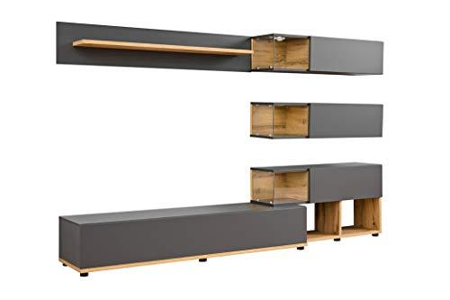 muebles bonitos – Mueble de salón Modelo Odin Color Gris y Roble...