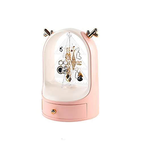 Joyería Caja de Almacenamiento Soporte de pendiente y exhibición de joyas, organizador del titular de la joyería, exhibición del soporte del organizador de la joyería con el cajón Colgador de joyas