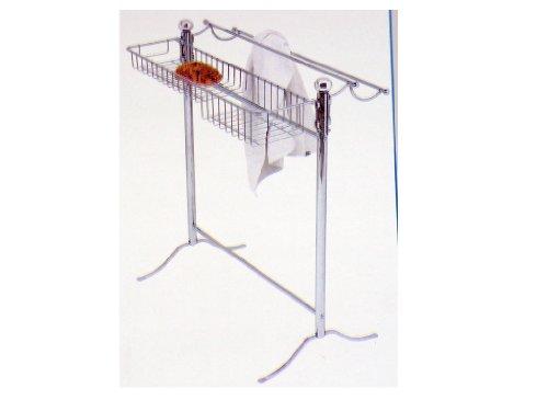Artemo 280846 Badablageständer mit 2 Handtuchhalter und Ablagekorb