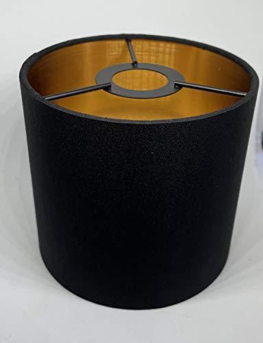 KHL Lampenschirm Stoffschirm E14 schwarz / gold Ersatzteil 11cm KH303379