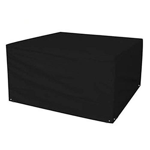 Huolirong Funda Protectora para Muebles Tela De Oxford Impermeable Cubierta Protectora for Mesa Y Sillas Muebles De Jardín Funda (Color : Black, Size : 120x120x74cm)