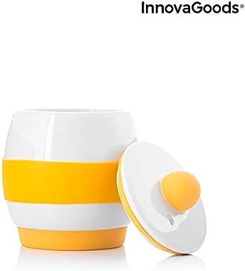 InnovaGoods Eggsira Ceramic Microwave Egg Cooker with Recipes