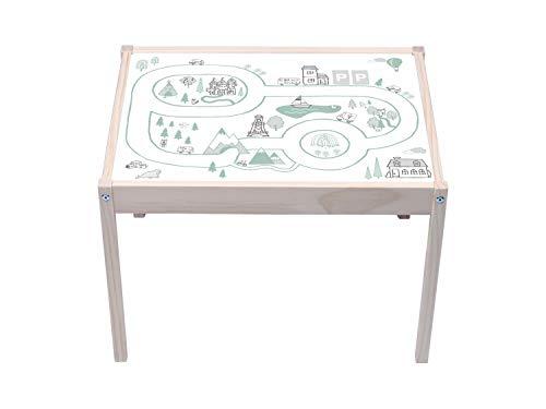 STIKKIPIX Lätt Tisch Aufkleber | KA22 | Landkarte | passend für den Tisch LÄTT von IKEA (Tisch Nicht inklusive)