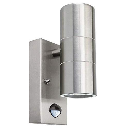 Inducción sensor de movimiento luces de pared arriba/abajo o solo Acero inoxidable al aire libre material de acero inoxidable AC85-265V pared