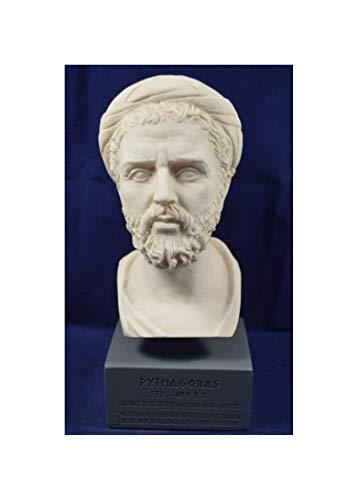Pythagoras Skulptur Samos antiker griechischer Mathematiker Philosoph Museum Reproduktion Büste