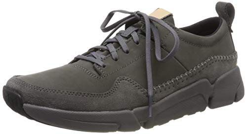 Clarks Herren TriActive Run Sneaker, Grau (Dark Grey Nubuck Dark Grey Nubuck), 39.5 EU