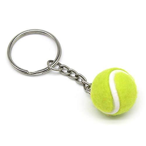 Lixada Mini Llavero de Forma de Pelota de Tenis, Llavero Tenis de Fieltro Regalo para los Amigos, Familias
