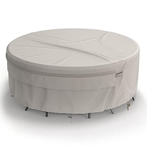 MR. Cover - Juego de mesa redonda para patio y silla (94 pulgadas, 100% material impermeable, 94 x 24 cm)