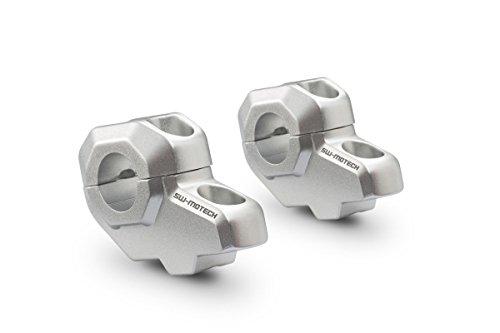 SW-Motech LEH.00.039.21000/S Lenkerverlegung Durchmesser Lenker, Höhe: 30 mm, Verlegung: 21 mm, Silbern