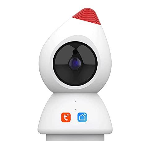 Tuya Smart Life 1080p Cámara IP, WiFi Inalámbrico Vigilancia De Seguridad CCTV Detección Humana Monitor De Bebé Compatible con Alexa(Size:Camera+8G)