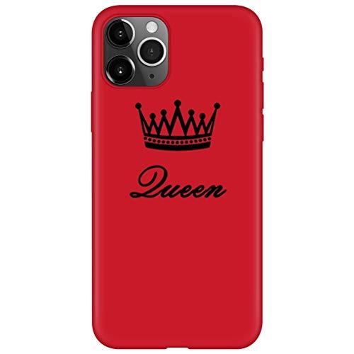 ZhuoFan Funda para Apple iPhone 5S, Cárcasa Silicona Armada Rojo con Dibujos Diseño Suave Gel TPU Antigolpes de Protector Piel Case Cover Bumper Fundas para Movil Apple iPhone 5 / 5S / SE, 17