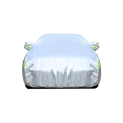 Autoplanen Garagen Kompatibel mit Autoabdeckung vollgarage Nissan X-Trail, mit Reißverschluss Tür PEVA Silber beschichteten Silber (Color : Silver, Size : 4455×1765×1750MM)