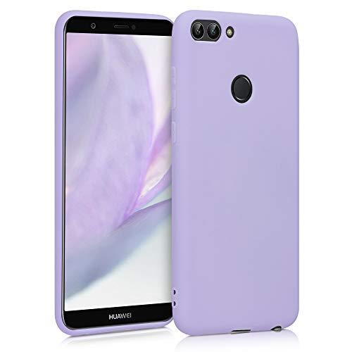 kwmobile Funda Compatible con Huawei Enjoy 7S / P Smart (2017) - Carcasa de TPU Silicona - Protector Trasero en Lila