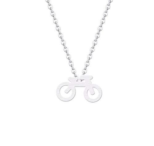 sufengshop Mountainbike Charm Anhänger Halskette Kragen Edelstahl Minimalistischer Schmuck