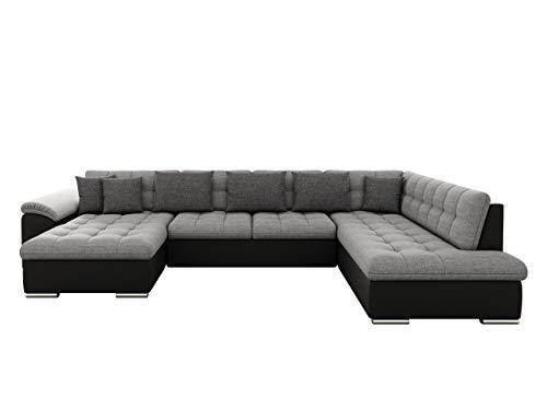 Mirjan24 Eckcouch Ecksofa Niko Bis!, Design Sofa Couch! mit Schlaffunktion und Bettkasten! U-Sofa Große Farbauswahl! Wohnlandschaft vom Hersteller (Ecksofa Links, Soft 011 + Lux 05 + Lux 06)