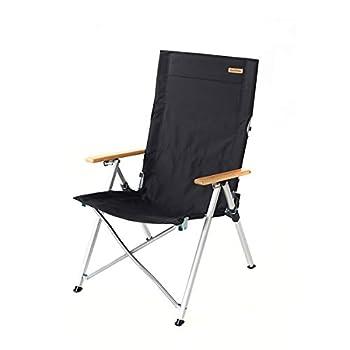 Naturehike Outdoor Folding Chair Portable Lounge Chair Recreational Fishing Chair Aluminum Alloy Beach Chair  Black