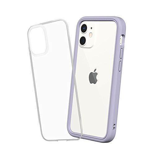 RhinoShield Coque Compatible avec [iPhone 12 Mini] | Mod NX - Protection Fine Personnalisable avec Technologie Absorption des Chocs [sans BPA] - Lavande