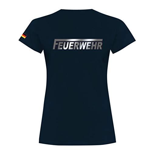 Rescue Point Feuerwehr Damen Kurzarm T-Shirt KF12DED (S)