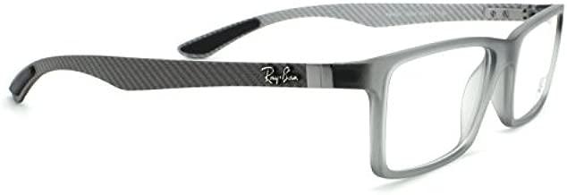 Ray-Ban RX8901 Carbon Fibre Unisex Eyeglasses (Gunmetal Grey Frame 5244, 53)