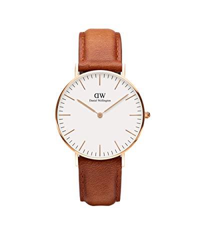 Daniel Wellington Classic Durham, Reloj Marrón/Oro Rosado, 40mm, Cuero, para Hombre