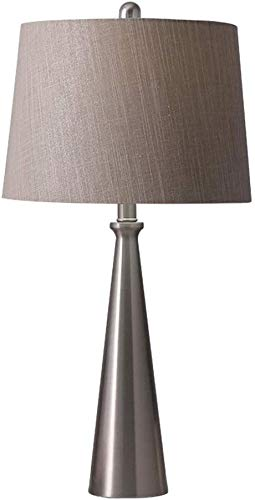 BUDBYU Lámpara de escritorio moderna minimalista nórdico creativa personalidad caliente de plata de la lámpara de escritorio de dormitorio sala de estar decoración del hogar iluminación