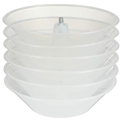 Hemoton Taza de Recolección de Aceite de La Taza de Aceite de La Campana Extractora de Plástico 6Pcs para El Reemplazo de La Cocina 5 Mm