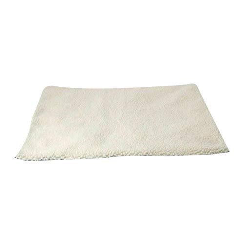clacce Selbstheizende Decke für Katzen & Hunde, Größe: 60x45cm, Innovative & Umweltfreundliche Wärmematte, Katzendecke (B:64X49CM, Weiß)