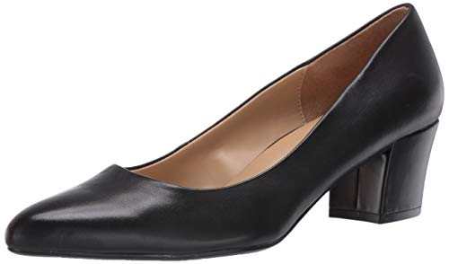 Naturalizer womens Carmen Pump, Black Leather, 7.5 US