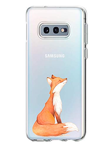 Fantasyqi Compatible/Remplacement pour Samsung Galaxy S10E Coque TPU Silicone Etui Clear Slim Bumper Housse Souple pour Galaxy S10 E (Renard)