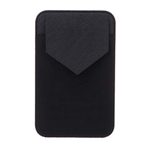 SimpleLife mobiele telefoon portemonnee, elastische stick op de mouwen mobiele telefoon etui met zelfklevend vak voor creditcards, iPhone, Android en de meeste smartphones (zwart)
