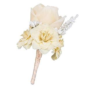 Silk Flower Arrangements Esquirla Wedding Buttonholes Artificial Silk Rose Flower Corsage Buttonhole Pin Groom