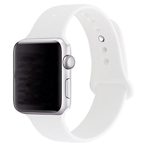 XIHAMA Armband für Apple Watch Serie 5 4 3 2 1, Silikon-Ersatzband Sport Ersatzarmband für iWatch 38mm/40mm/42mm/44mm