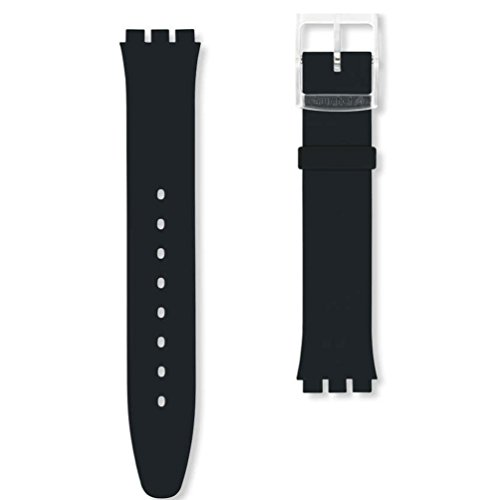 Swatch ASFK361 Skin Classic Black Silicone Replacement Strap