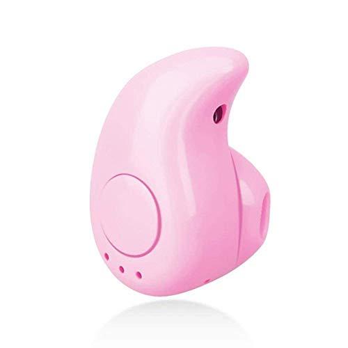 Aqweao S530 Mini Auricular Bluetooth Inalámbrico En El Oído Deporte con Micrófono Auriculares Manos Libres Auricular Auricular para iPhone 8 X Samsung (Color : Pink)