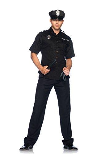Leg Avenue Women's Police Costume, Black, Medium/Large