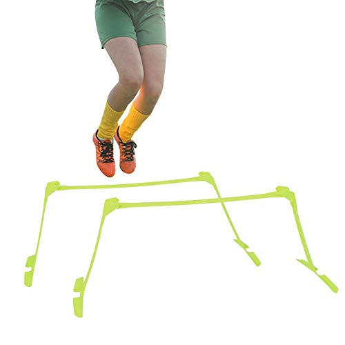 2Pack Adjustable Height Speed Hurdles Soccer Agility Speed Training Aids Fast Footwork Agility Drills Steel Ground Spiral for Jump Training
