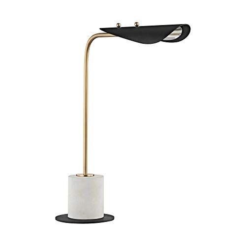 Mitzi HL157201-AGB/BK Layla - 21 Inch 4W 1 LED Table Lamp, Aged Brass/Black Finish