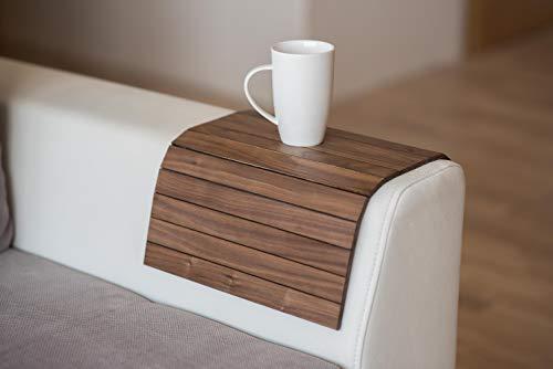 Bandeja de madera exótica para el brazo del sofá de la bandeja de los apoyabrazos de la mesa del sofá de la bandeja del sofá (no