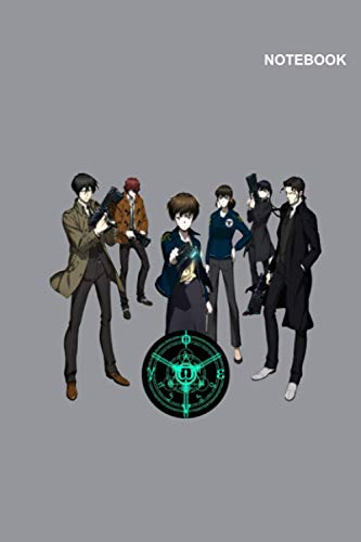 Psycho-Pass Movie Notebook Cover: 110 pages [55 sheets], (6 x 9 inches) Large, Lined Pages.