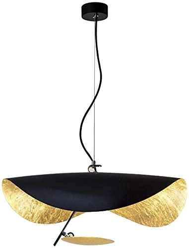 Lámpara colgante industrial retro de metal negro lámpara colgante lámpara LED diseño de sombrero de paja, lámpara de comedor, bar, cafetería, decoración artística