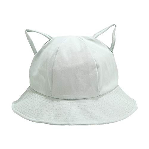 Demarkt Sombrero de mujer para el sol, sombrero de pescador para la playa Color verde fruta. 56/58