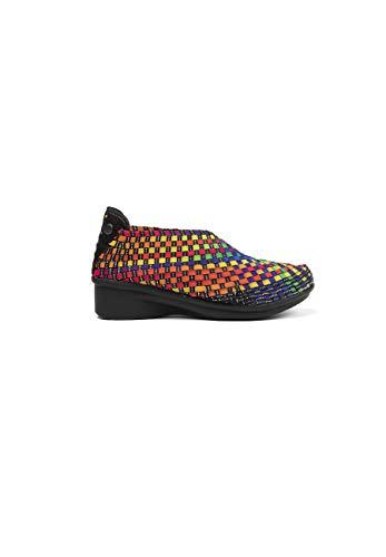 B M BERNIE MEV NEW YORK Gem Yael Wedge - Zapatillas de cuña para Mujer, Multicolor (Black Multi), 36 EU