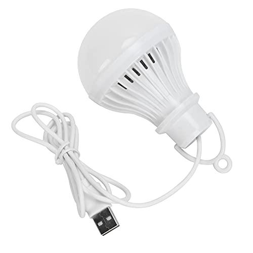 Deror Bombilla de lámpara de Ahorro de energía LED USB portátil Luz de Emergencia LED para Acampar al Aire Libre 5V 7W, Aproximadamente 90cm