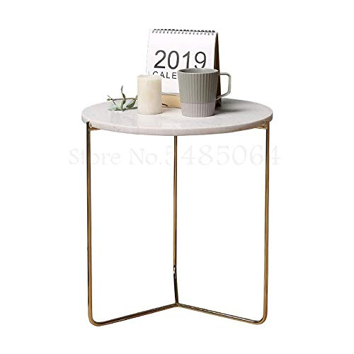 DIAOD Nordic Marble Side Coffee Table Simple Creative Modern Living Room Sofa Light Iron Corner Table