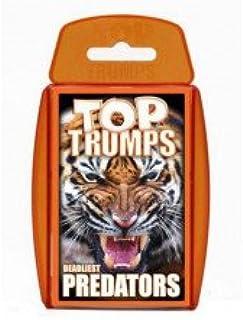 Holland Plastics Original Brand TOP Trumps - Predators! Perfect for Indoors, Travelling, Camping and Holidays