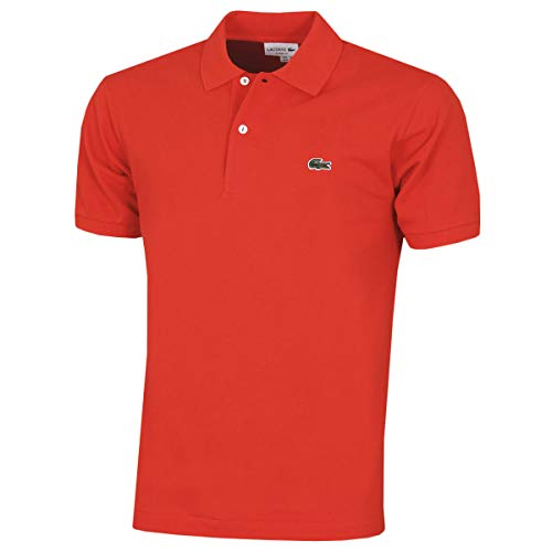 Lacoste Mens L1212 00 Original Short Sleeve Polo Shirt Red Corrida S5H XXL Manufacture Size 7
