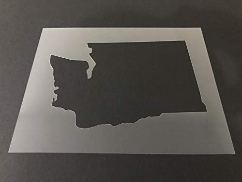 Washington #1 Stencil Reusable 10 mil Thick 8in x 10.5in sheet