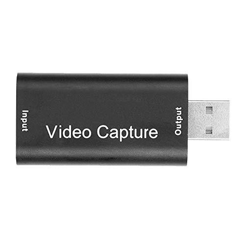 Aukson Tarjeta de Captura de Video, Tarjeta de Captura de Video con Salida de 1080P y Entrada de 4k con Interfaz USB2.0, Tarjeta de Captura en Tiempo Real para computadora PC