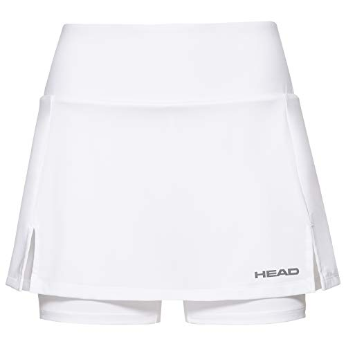 HEAD Damen Skirts Club Basic Skort W, weiß, 814399-WH XS